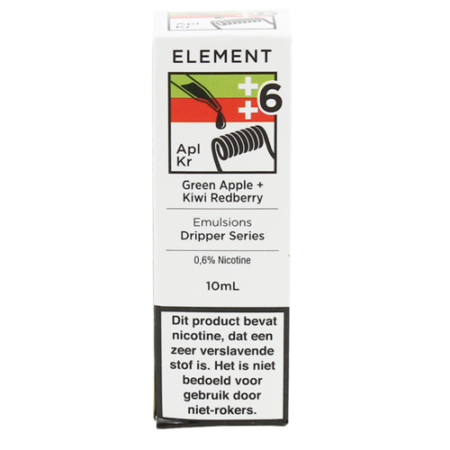 Green Apple + Kiwi Redberry - Element e-Liquids EMULSIONS Dripper