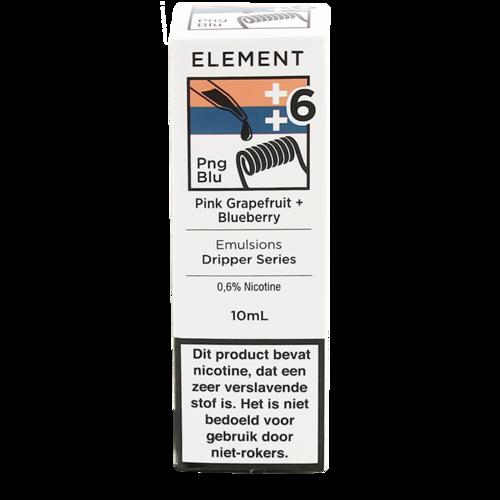 Pink Grapefruit + Blueberry - Element e-Liquids EMULSIONS Dripper